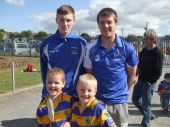 Jack O'Donovan and Brian Callaghan with All-Ireland Minor winning hurlers Kevin Daly and Austin Gleeson