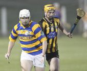 Ronan Sheehan solos past his marker during the Western Junior Hurling (Intermediate Attached) Final at Fraher Field