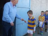 U8 players receiving their medals at the Roanmore Charity Blitz