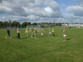 U8 players in action during the Roanmore Charity Blitz