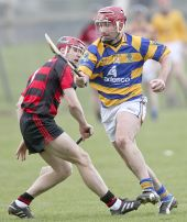 John Phelan sidesteps his opponent during the County Senior Hurling Championship clash with Ballygunner at Fraher Field