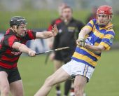 Tom Hanrahan shoots for the posts during the first round game v Ballygunner in the County Senior Hurling Championship