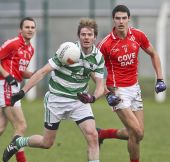 Mark Fives in action against Stradbally during the County Senior Football Championship Final played at Fraher Field