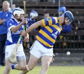 Gary Hurney offloads the sliothar in the County Senior Hurling Championship Quarter Final victory over Fourmilewater