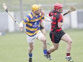 John Gorman tracks his Ballygunner opponent during the County Senior Hurling Championship Semi Final clash at Walsh Park