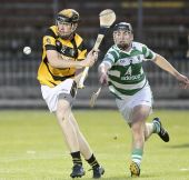 Brian Looby attempts to hook his Lismore opponent during the County Senior Hurling Championship victory at Fraher Field