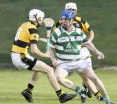 John Hurney in action during the County Senior Hurling Championship match v Lismore at Fraher Field