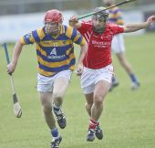 Patrick Hurney strides away from his marker during Abbeyside's County Senior Hurling Championship victory over Passage played at Walsh Park