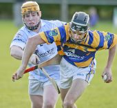 David Collins emerges with the sliothar during the County Senior Hurling Championship match against Roanmore at Kill
