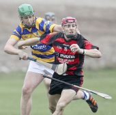 Seán O'Hare battles to win possession during the County Senior Hurling Championship Semi Final v Ballygunner at Walsh Park
