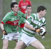 Patrick Hurney in action v Rathgormack in the first round of the County Senior Football Championship