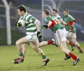 John Gorman strides past his marker in the County Senior Football Championship v Rathgormack at Fraher Field
