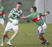 Mark Ferncombe shoots for the posts in the County Senior Football Championship v Rathgormack