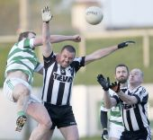 Seán O'Hare fists the ball clear during the County Senior Football Championship match v St. Saviours