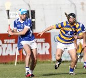 Shane O'Donovan focuses on blocking the sliothar in Abbeyside's Senior Hurling Championship Quarter Final v Fourmilewater
